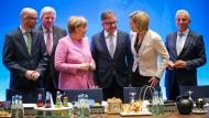 """Seine """"Mainzer Erklärung"""" könnte den Geheimdiensten zum großen Datenjackpot verhelfen: Der CDU-Bundesvorstand bei seiner Klausurtagung"""