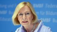 Bundesministerin für Forschung und Lehre, Johanna Wanka (CDU).
