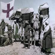Camel Corps in Ägypten, 1918: Die Grenzstadt Rafah diente als Basis für den Angriff auf Gaza