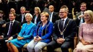 Verspricht, nach ihrer Amtszeit noch von sich hören zu lassen: Angela Merkel in Leipzig.