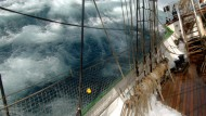 """Der Windjammer """"Alexander von Humboldt"""" segelte im Januar 2006 von Buenos Aires nach Ushuaia vor Kap Hoorn"""