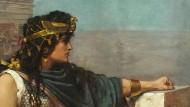 Zenobia, von den Römern unter Aurelian gefangen genommen, schaut ein letztes Mal auf Palmyra zurück: Gemälde von Herbert Gustave Schmalz aus dem Jahr 1888.