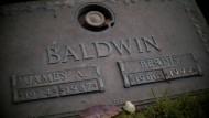 James Baldwins Grabstein am Friedhof Ferncliff in Hartsdale.