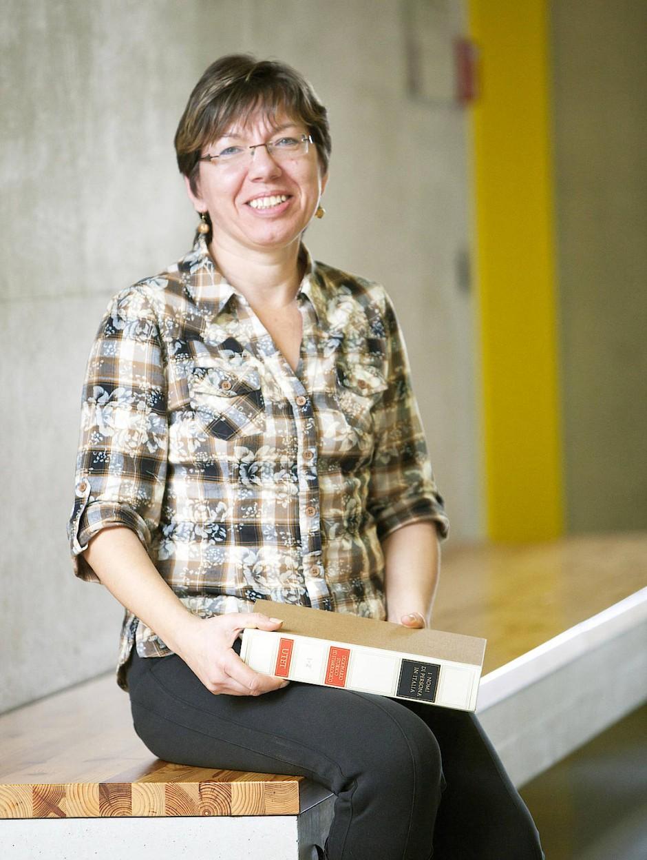 Weiß um Namensgebung Bescheid: Gabriele Rodríguez, die Autorin des Buches.