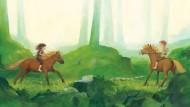"""Im Sommer, im Wald: Illustration Katrin Engelkings aus dem Buch """"Von Bullerbü bis Lönneberga. Die schönsten Geschichten von Astrid Lindgren"""""""