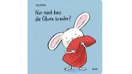 """Jörg Mühle: """"Nur noch kurz die Ohren kraulen"""". Moritz Verlag, Frankfurt am Main 2015. 22 S., br., 8,95 €. Ab 2 J."""