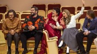 Sie kommen von ihrer Opern-Sucht nicht los: Lauri Vasar, Goran Juric, Violeta Urmana, Aida Garifullina und Bogdan Wolkow (von links).