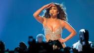 Pose ist alles: Jennifer Lopez beim Auftakt ihrer Deutschlandtour in Berlin