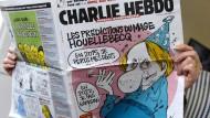 Die Vorhersagen des Magiers Houellebecq auf dem Titelblatt des französischen Satiremagazins vom 7. Januar 2015
