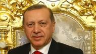 Präsident Erdogan Ende Januar im Yildiz-Mabeyn-Palast in Istanbul