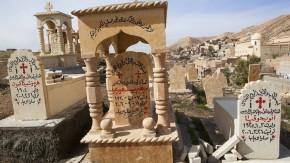 Christlicher Friedhof in der nordirakischen Stadt Alkosh