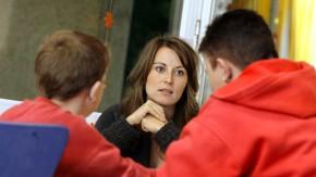 Erziehungsberatung: Eine alleinerziehende Mutter mit ihrem Kind findet bei der Evangelischen Gesellschaft in Stuttgart Rat