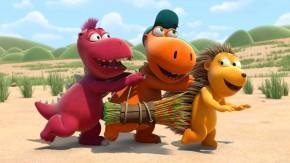 Bewährtes Trio: der kleine Drache Kokosnuss mit seinen Freunden Oscar (l.) und Matilda (r.)
