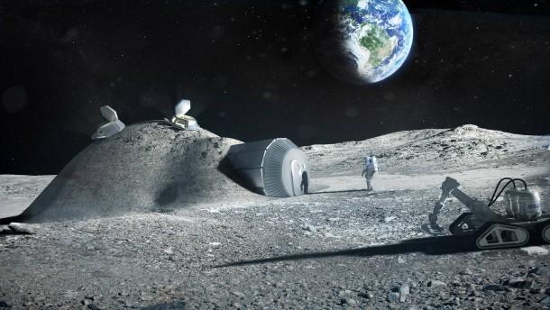 Russland und Europa blicken zum Mond