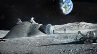 Weltraumbesiedelung ist kein abstraktes Gedankenspiel mehr. Das Mond-Habitat der European Space Agency existiert bisher aber nur im 3D-Druck.