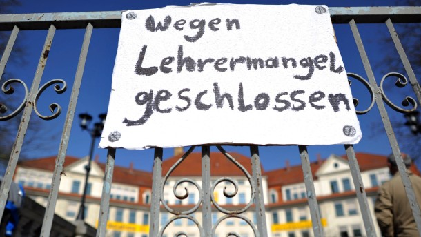 Protest gegen Lehrermangel