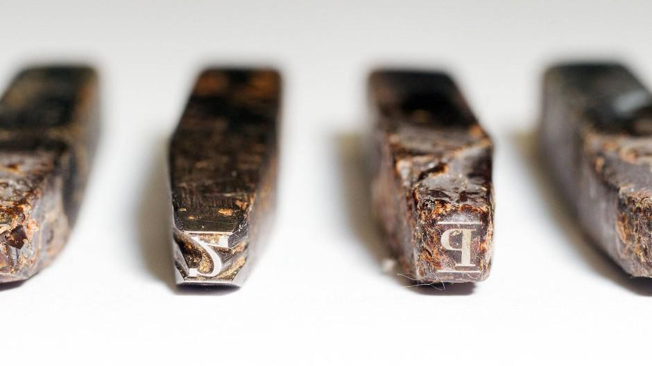 Ge'ez-Bleilettern des altäthiopischen Alphabets