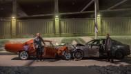 """So sieht man sich wieder: Vin Diesel (l.) und Jason Statham in Fast & Furious 7""""."""