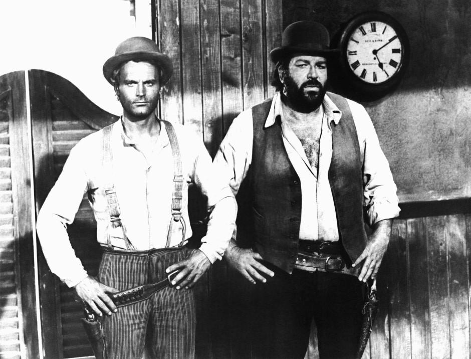 Kindheitsheld Bud Spencer (rechts) musste sich seine deutsche Stimme mit John Wayne, Kirk Douglas und Anthony Quinn teilen.