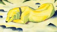 """""""Liegender Hund im Schnee"""" (1911): Franz Marc ist bekannt für seine Tiermalerei. Laut Biograph Wilfried F. Schoeller hatte er genau dieser abgeschworen."""