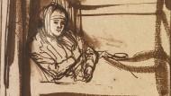 """Gewandfalten wie Fieberkurven, Strichmund der Traurigkeit: Rembrandts Frau """"Saskia im Bett"""", um 1638"""