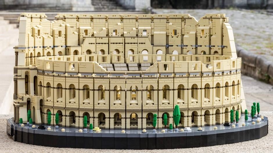 Kolossal: Legos Steineset des Bauwerks in Rom ist mit 9036 Steinen das größte der Unternehmensgeschichte.