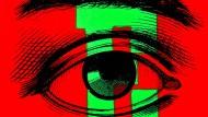 """Die heilige Künstlerdreifaltigkeit aus Farbe, Komposition und neuem Kontext, dazu topaktuell: Corita Kents """"E"""" aus ihrem """"Circus Alphabet"""" von 1968"""