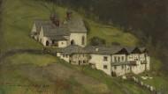"""Viele seiner besten Gemälde verschwanden in Privatsammlungen, so auch dieses: Franz von Defreggers """"Drei Kirchen"""", 1879"""