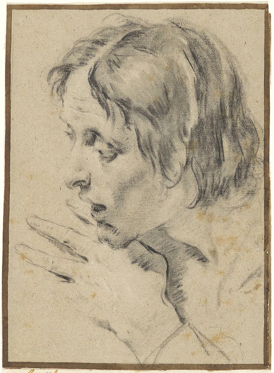 """Was nicht zu sehen und verstehen ist: Giambattistas Piazzettas """"Junger Apostel, erstaunt in den leeren Sarkophag blickend""""."""