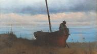 """Nur Gott weiß, von was der Fischer im Traum sieht: Iwan Aiwasowski """"Blick auf die Meeresküste in der Umgebung von Petersburg"""", 1835."""