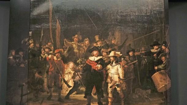 """Rembrandts """"Nachtwache"""" erstmals vollständig zu sehen"""