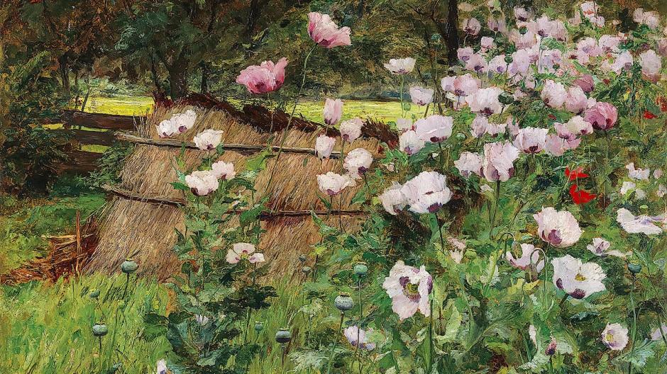 "Olga Wisinger-Florian, ""Im Bauerngarten"", Öl auf Karton, 77,5 x 94 cm, Taxe 250.000/350.000 Euro."