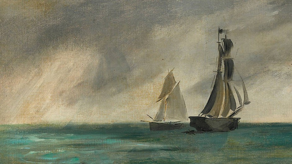 "Éduard Manet, ""Marine, Temps d'orage"", 1873, Öl auf Leinwand."