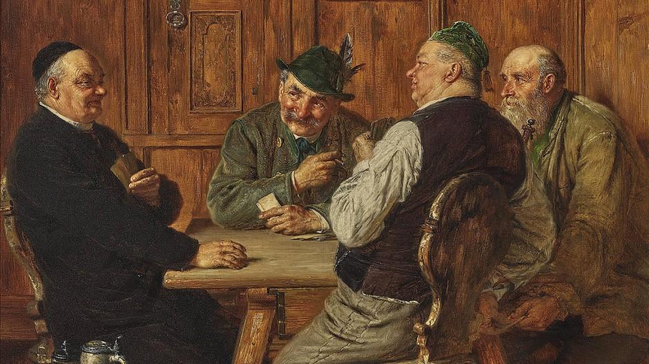 """Eduard von Grützner, """"Bemogelt"""", Öl auf Lwd. 43,5 x 55,5 cm, 57.150 Euro (12.000/15.000)"""