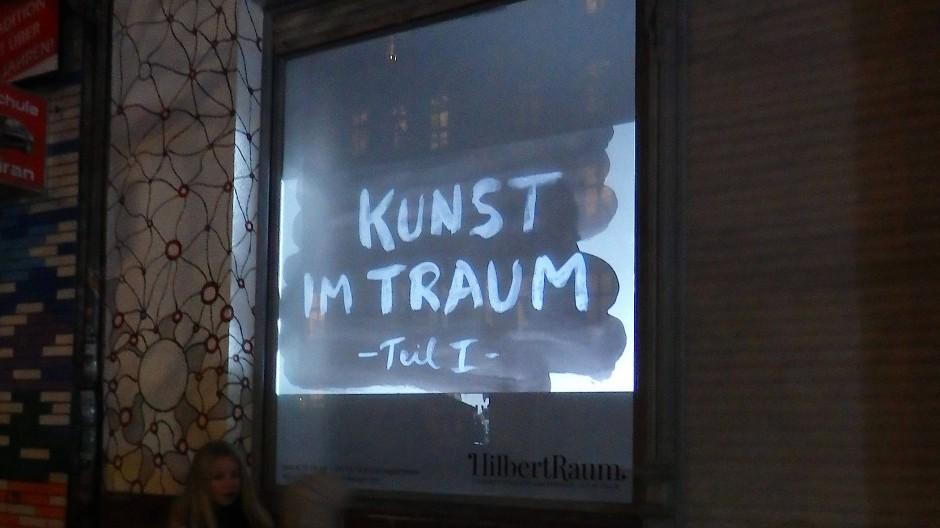 """Die Kunst-Projektion """"Kunst im Traum"""" war im HilbertRaum zu sehen."""