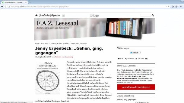 Was ist F.A.Z. Lesesaal?