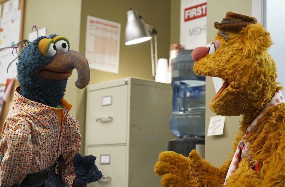 Und das sind die Autoren der Show in der Show: Gonzo und Fozzie Bär.