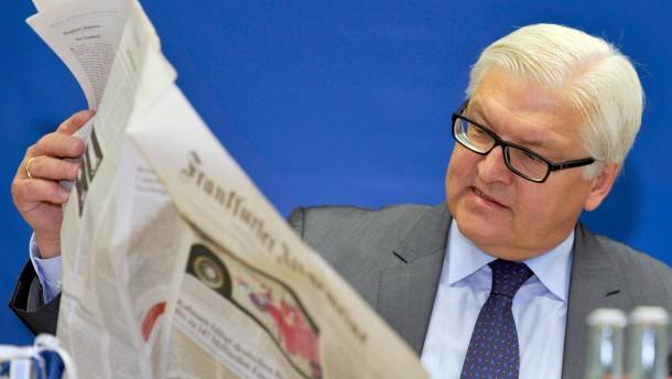 """Steinmeier sagt: """"Journalismus zuerst"""""""