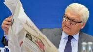 Steinmeier sagt: Journalismus zuerst