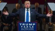 Er ist immer noch da: Donald Trump macht Wahlkampf bis zuletzt.