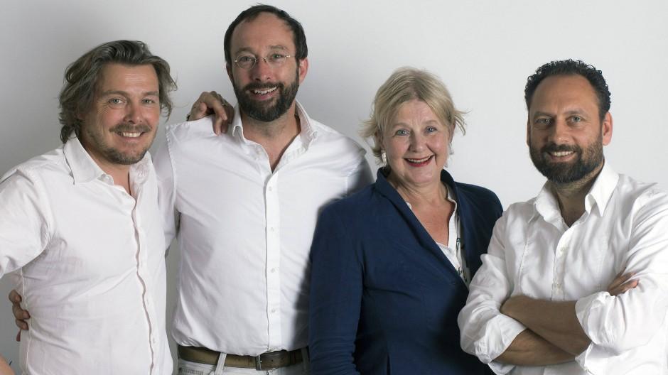 Kuratoren: Marianne Birthler und die Architekten Lars Krückeberg, Wolfram Putz und Thomas Willemeit (von links).