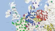 """Auf """"Google Maps"""" versammeln die Aktivisten Aktionen gegen Acta"""