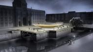 Die im Dunkeln sieht man: Computer-Modell des umstrittenen Einheitsdenkmals in Berlin.