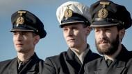 """An Bord: August Wittgenstein, Rick Okon und Franz Dinda (von links) in der neuen Serie """"Das Boot"""""""