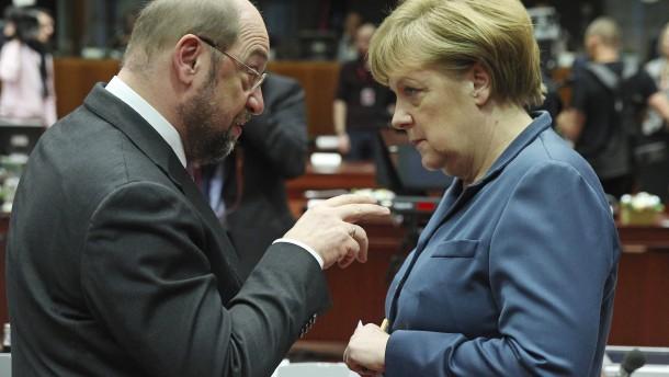 Nur ein TV-Duell Merkel gegen Schulz