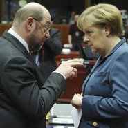 """Zwiegespräch: Am 3. September kommt es zum """"TV-Duell"""" mit Bundeskanzlerin Angela Merkel und Martin Schulz."""