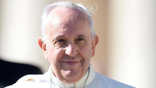 Der Papst ärgert sich grün