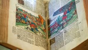 Die Bibel auf eine Kabeltrommel spannen?
