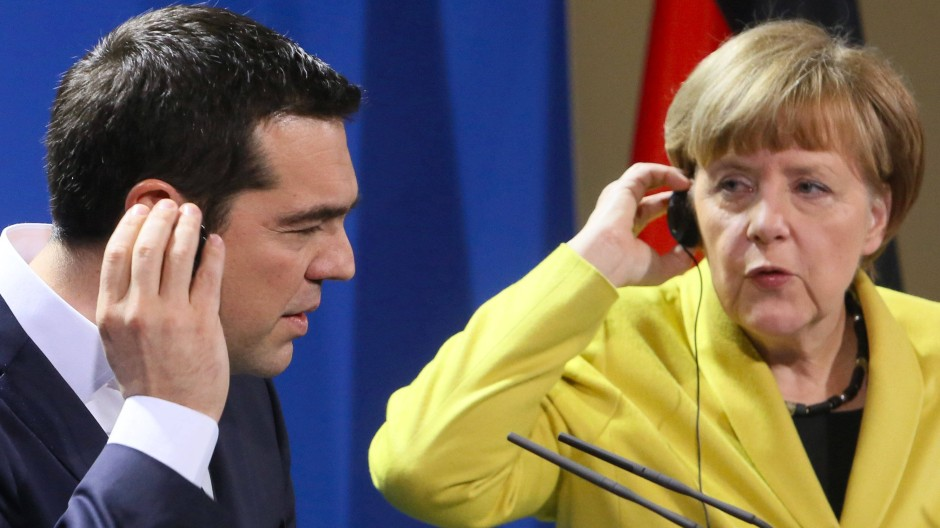 Können Sie mich hören? Für Angela Merkel und Alexis Tsipras geht es um grundlegende Verständigung. Wenn es sein muss, ringen sie darum auch siebzehn Stunden am Stück.