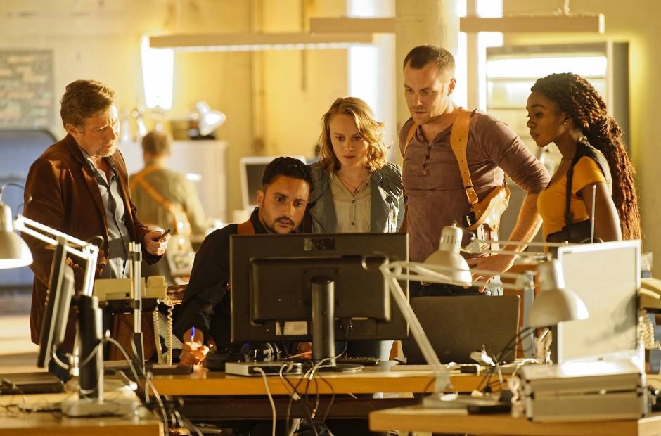 Das deutsch-französische Team bei der Arbeit: Christian Junker, Omar El-Saedi, Anke Retzlaff, Bernhard Piesk und Karmela Shako (von links).